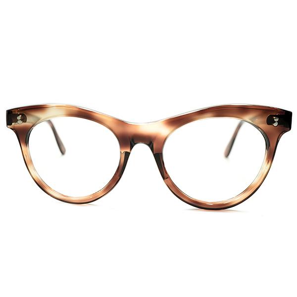 機能本位超GOODシルエット&グッドサイズ デッドストック 1950s フランス製 MADE IN FRANCE 2DOT 鼈甲柄 ウェリントンパント PANTO 実寸46/20 ヴィンテージ メガネ 眼鏡 A5019