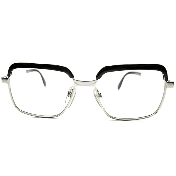 辛口CLASSIC配色&高精度 デッドストック 1960s-1970s 西ドイツ製 MADE IN WEST GERMANY ローデンストック RODENSTOCK BLACK MARBLE×ホワイトゴールド コンビネーションフレーム CORREL コレル size54/16 ビンテージヴィンテージ 眼鏡メガネ A5085