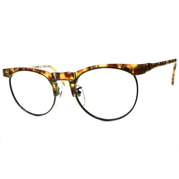 ストリートテイスト全開1980s フレーム フランス FRAME FRANCE デッドストック LAFONT ラフォン BRITISH SYLE PANTO ブロータイプ ビンテージヴィンテージ 眼鏡メガネ a6301