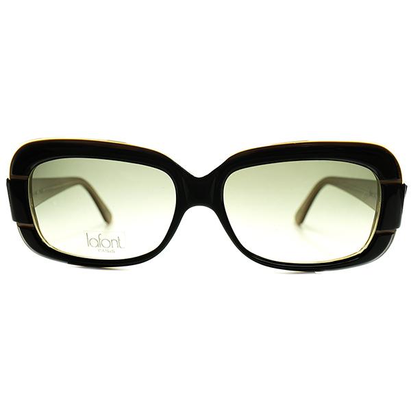 UK MID CENTURYモダンデザイン 1990s FRAME FRANCE デッドストック LAFONT ラフォン SQUARE ウェリントン サングラス BLACK ビンテージヴィンテージ 眼鏡メガネ a6423