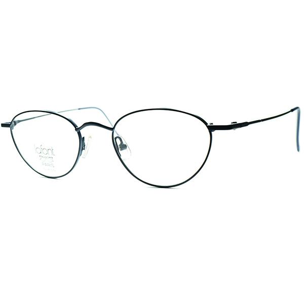 パリ発 上質NEW OLD CLASSICデイリーユース向け 1990s フランス製 デッドストック LAFONTラフォン FRENCH NAVY 極細メタル変形PANTOラウンド 丸眼鏡 丸メガネ ビンテージヴィンテージ 眼鏡メガネ a6426