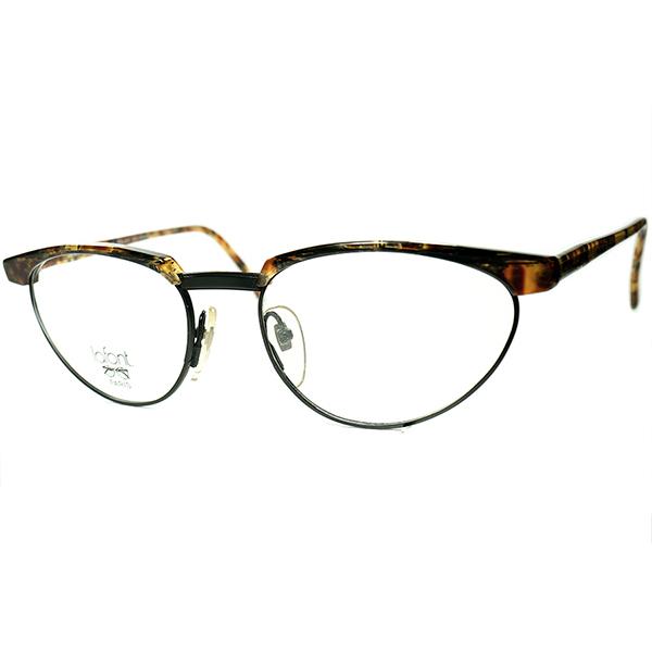 斬新 FRENCH NEW CLASSICx オールドスクール 1980s フレーム フランス FRAME FRANCE デッドストック LAFONT ラフォン FOX型ブロータイプ ビンテージヴィンテージ 眼鏡メガネ a6427