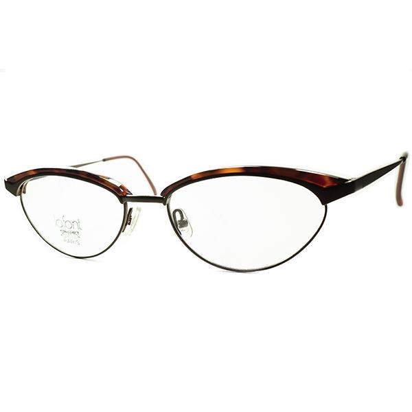 秀逸バランス ハイセンス NEW OLD CLASSIC 1990s フレーム フランス FRAME FRANCE デッドストック LAFONT ラフォン FOX型ブロータイプ ビンテージヴィンテージ 眼鏡メガネ a6430