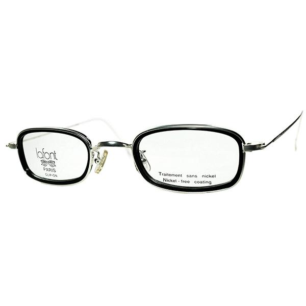 軽量x秀逸シルエット デイリー向けANTIQUE DESIGN 1990s フランス製 デッドストック LAFONT ラフォン BLACKインナーリムRECTANGLE 長方形 PANTO ビンテージヴィンテージ 眼鏡メガネ a6432