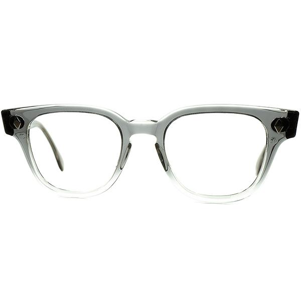 超入手困難 代表的枯渇モデル デッドストック 1950s-60s USA製 オリジナルTART OPTICAL BRYAN タート ブライアン GRAY FADE size46/20 2TONE GRAY仕様 ビンテージヴィンテージ 眼鏡メガネ a6556