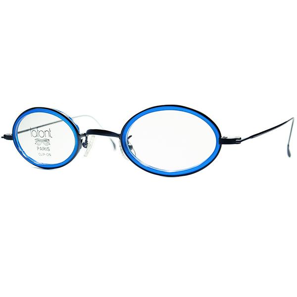 NAVYラバー必見 ANTIQUEベース新境地CLASSIC DESIGN 1990s フランス製 デッドストック LAFONTラフォン小径OVALインナーリム 極細ラウンド 丸眼鏡 丸メガネ ビンテージヴィンテージ 眼鏡メガネ a6608