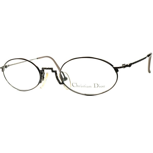 WELL-BALANCED日常使い向け1970s-80s AUSTRIA製デッドストック CHRISTIAN DIOR クリスチャン・ディオールOVALラウンド 丸眼鏡 丸メガネ ビンテージヴィンテージ 眼鏡メガネ a6613