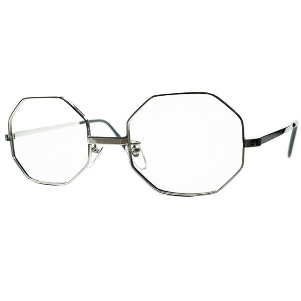 超高精度クオリティ 骨太重厚SOLIDボディ1960s-70s MADE 驚きの価格が実現 IN 5☆好評 ENGLAND イギリス製 デッドストック SILVER ビンテージ#160;ヴィンテージ a6673 size50 22 OCTAGON オクタゴン 眼鏡#160;メガネ METAL