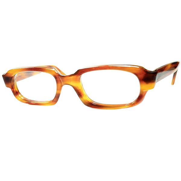 超絶クオリティ1960s デッドストックDEADSTOCK MADE IN ENGLAND イギリス製ミリタリーSTYLE短縦ウェリントンHONEY AMBER size50/20 ビンテージヴィンテージ 眼鏡メガネ a6741