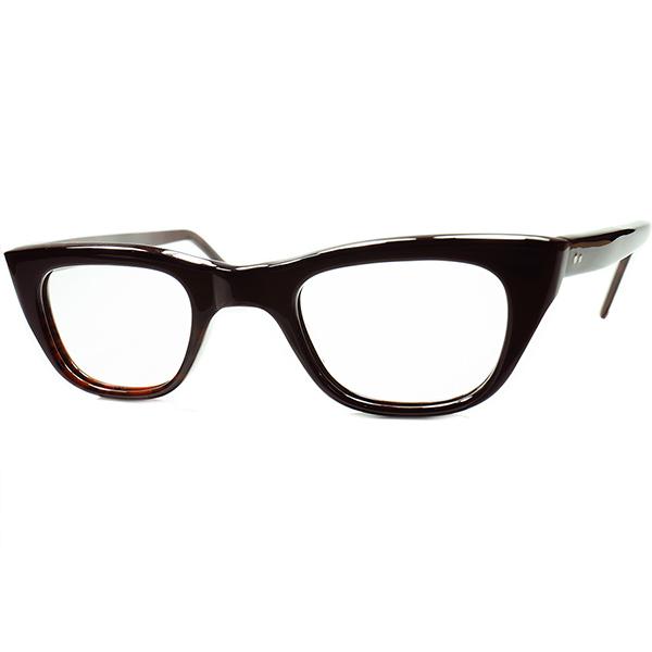 UKウェリントン稀少色 日常使い最適個体1960sデッドストックDEADSTOCK MADE IN ENGLAND 英国製 MINIMALベーシック ウェリントンDARK DEMI size44/26 ビンテージヴィンテージ 眼鏡メガネ a6743