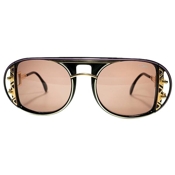 オールドスクールBLACKテイストMAX 厳選個体 1990s デッドストック GERMANY製 CAZAL カザール OLD SCHOOLアビエーターmod.875 黒サングラス ビンテージヴィンテージ 眼鏡メガネ a6753