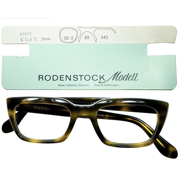 最高峰BASICウェリントン 稀少モデル 1960s 台紙付 デッドストックDEADSTOCK 西ドイツ製オリジナルRODENSTOCK ローデンストックPERSY size50/20 黒ベース鼈甲柄 ビンテージヴィンテージ 眼鏡メガネ a6754