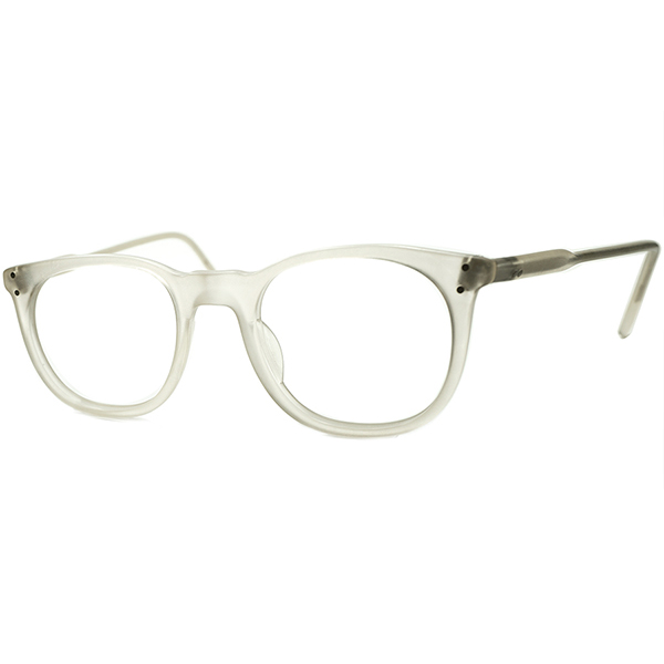 初期FRAME FRANCE時代 デイリー向けBASIC DESIGN 1980sフランス製 フレーム フランス デッドストック l.a.EyeworksアイワークスUK STYLEウェリントンMATT CRYSTAL 46/22 ビンテージヴィンテージ 眼鏡メガネ a6786