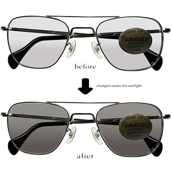AO製 調光ガラスLENS搭載タウンユース仕様1970sオリジナルUSA製デッドストック AMERICAN OPTICAL アメリカンオプティカル TAXI DRIVER アビエーター ビンテージヴィンテージ 眼鏡メガネ a6814