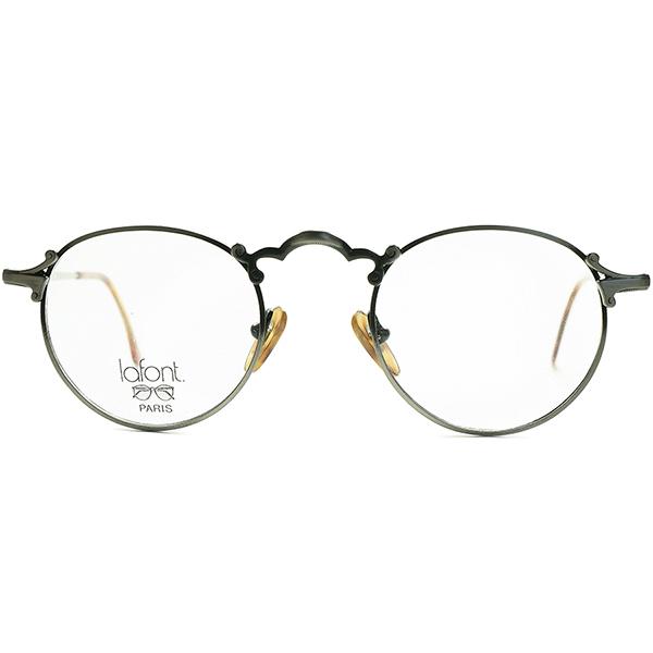 完璧シルエットxUNIQUEアクセント1980s-90s フランス製 デッドストック FRAME FRANCE フレーム フランス ラフォン LAFONT アールデコ調PANTO ラウンド ビンテージヴィンテージ 眼鏡メガネ a6833