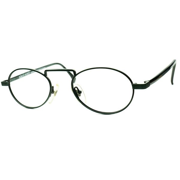 実用的クラシックベース1980s-90s HAND MADE IN FRANCE デッドストック alain mikli アランミクリ ラウンドPANTO グリーンメタルxGREEN MARBLE ビンテージヴィンテージ 眼鏡メガネ a6851