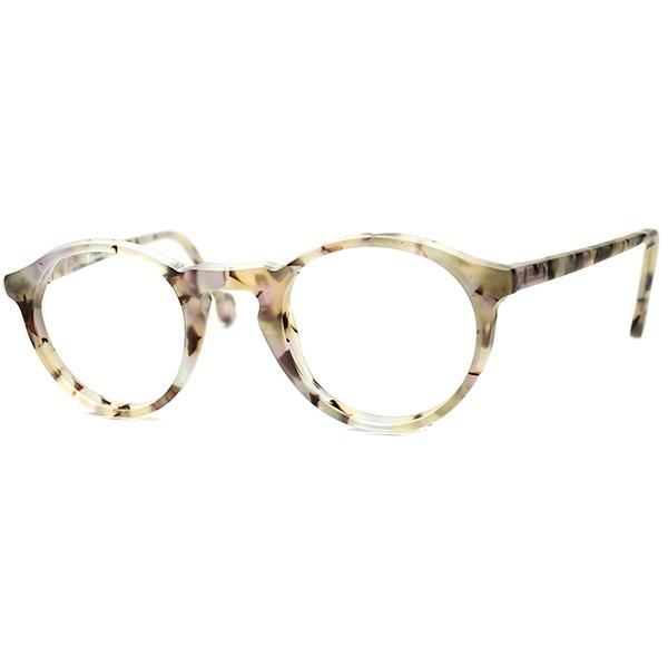 WARHOLオマージュモデル ABSTRACTアート柄 1990s デッドストック ITALY製 l.a.Eyeworksアイワークス KEYHOLE ボストン極上シルエット実寸 42/24 ビンテージヴィンテージ 眼鏡メガネ a6895