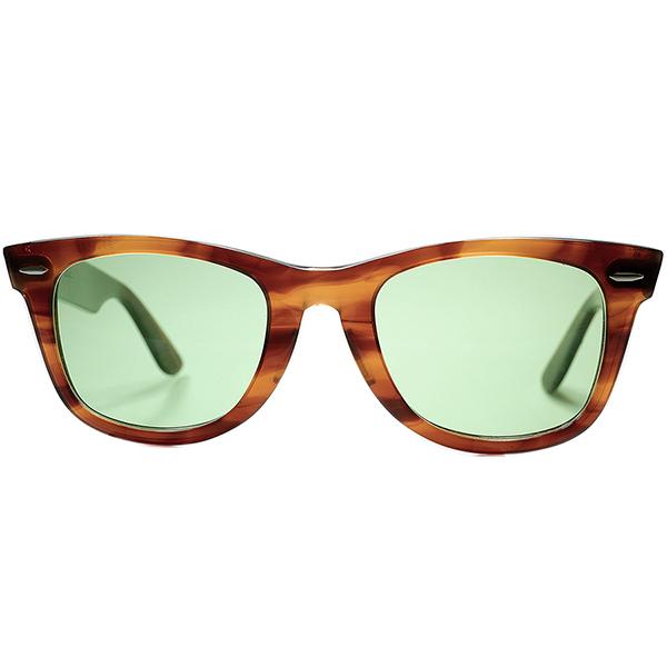 オールドテイスト仕立て極上個体1970s USA製 BL RAYBAN ボシュロム レイバン WAYFARER 1 ウェイファーラーAMBER 50/22 日本製#2ガラスLENS ビンテージサングラス 眼鏡 メガネ a6908