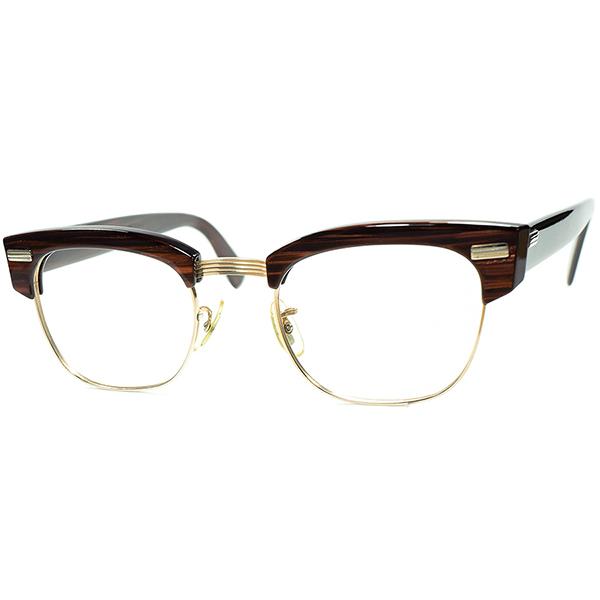 US解釈EUROPEANブロー デッド級TOPランク個体 1960s USA製 AO AMERICAN OPTICAL アメリカンオプティカル 激レアモデルBOLD SIRMONT1/10 12KGF ROSEWOOD size48/22 ビンテージヴィンテージ 眼鏡メガネ a6923