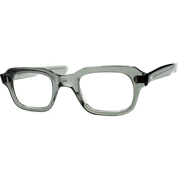 HAVE TO TRY 激渋MILITARY LOOK激RARE極上モデル 1960sデッドストックDEADSTOCK USA製 AMERICAN OPTICAL アメリカンオプティカルAO ミリタリーSTYLEウェリントン GRAY CRYSTAL 46/24 ビンテージ眼鏡メガネ a6924