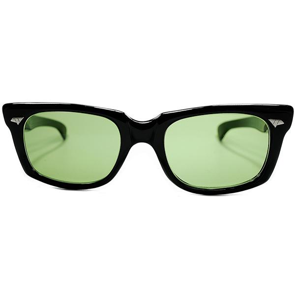 サングラスライン初期RAREモデル未完OLDテクスチャー1950s-60s USA製 AO アメリカンオプティカル AMERICAN OPTICALSTRAIGHT TEMPLEウェリントン OLDガラスLENS ビンテージヴィンテージ 眼鏡メガネ a6930