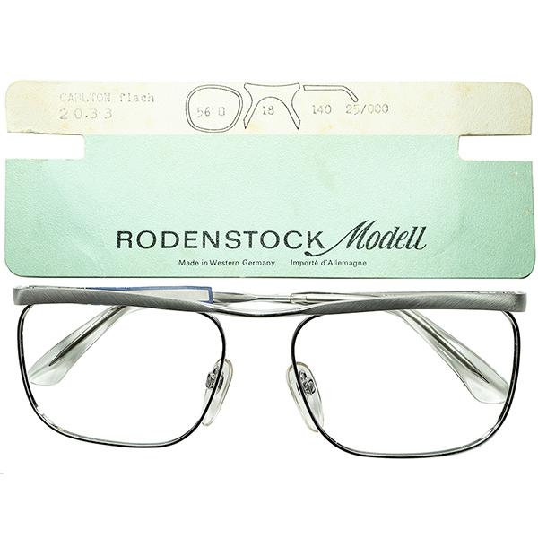 伝説的名作TOPランク デッドストック 1960s-70s 西ドイツ製オリジナルRODENSTOCK ローデンストックCARLTON FLACHカールトン金張り1/20 12K size54/16 ビンテージヴィンテージ 眼鏡メガネ a6948