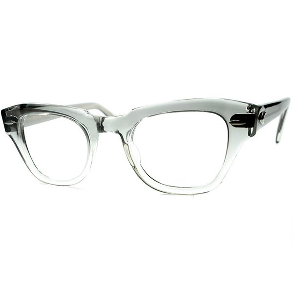 激レアハイクラスモデル 激レア色デッド同等TOPランク個体1950s BAUSCH&LOMB ボシュロムB&L 肉厚フロントPRE-WAYFARER size46/22 GRAY FADE ビンテージヴィンテージ 眼鏡メガネ a6973