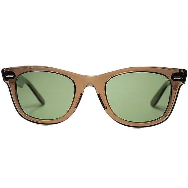 オールド鬼レア色個体1960s-70s USA製 B&L RAYBANボシュロム レイバンWAYFARER 1ウェイファーラーBROWN CRYSTAL 50/22日本製 #3ガラスLENS サングラス ビンテージヴィンテージ 眼鏡メガネ a6982