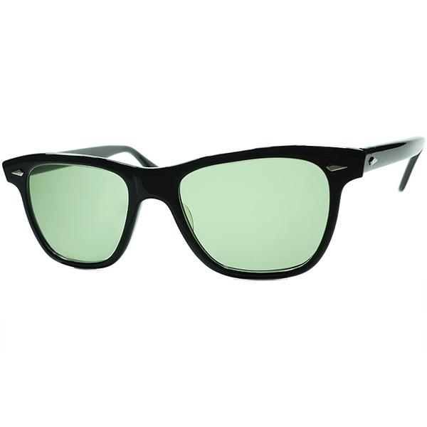 デッド同等TOPランク極上MINT個体 ケネディ大統領愛用伝説的モデル 1960s USA製 AO アメリカンオプティカル AMERICAN OPTICAL SARATOGA サラトガ BLACK 黒 ビンテージヴィンテージ 眼鏡メガネ a6984