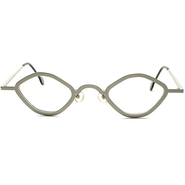 絶妙ANTIQUEシルエットx超快適SIZE再構築 90s デッドストック ITALY製 l.a.Eyeworksアイワークス小径OCTAGON 合金コンクリートGRAY ビンテージヴィンテージ 眼鏡メガネ a6993