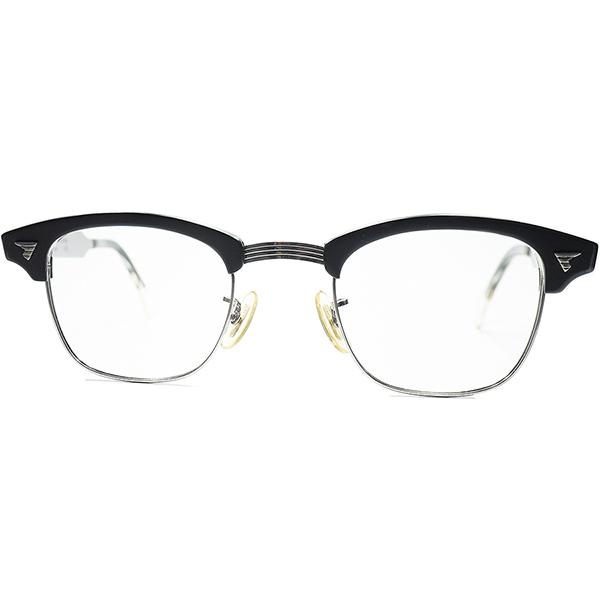 待望レア色ドス黒マットブラック優良個体 1960s AO アメリカンオプティカル AMERICAN OPTICAL MALCOLM X マルコムX MATT BLACK ALUM 1/10 12KGF金張 size44/22 ビンテージヴィンテージ 眼鏡メガネ a7014