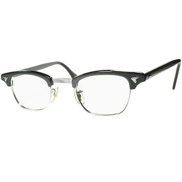 初期仕様レアSIZEデッド同等TOPランク個体1960s アメリカンオプティカル AMERICAN OPTICAL AO マルコムX MALCOLM X 1/10 12KGF金張り size42/22 GRANITE GRAY ビンテージヴィンテージ眼鏡メガネ a7081