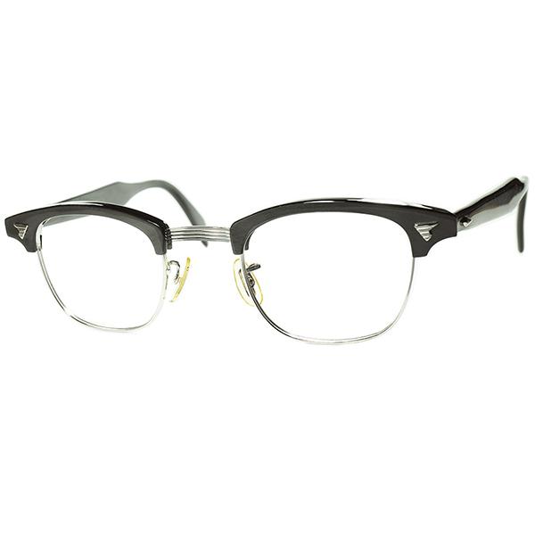 デッド同等TOPランク個体1960s AO アメリカンオプティカル AMERICAN OPTICALマルコムX MALCOLM X 1/10 12KGF金張り size46/24 GRANITE GRAY ビンテージヴィンテージ 眼鏡メガネ a7086