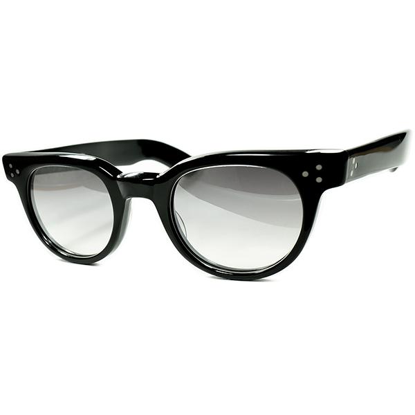 待望BLACK スペシャル仕様1980s デッドストック USA製 ハンドメイド SHADY CHARACTER シャディー FDR 黒 BLACK size48/24 タート同一金型 ビンテージ#160;ヴィンテージ#160;眼鏡#160;メガネ a7094