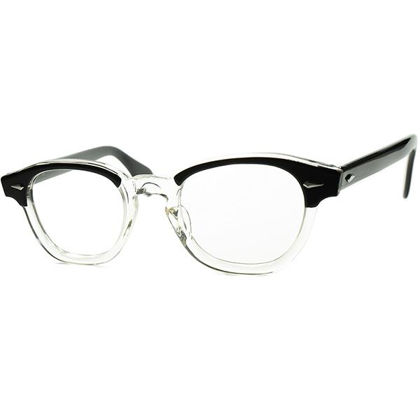 優秀PERFECT SHAPE デッド同等TOPランク個体1960s AMERICAN OPTICAL アメリカンオプティカルAO ARNEL アーネル同型 JAZZ 2TONE BLACK 44/20 ビンテージヴィンテージ 眼鏡メガネ a7108