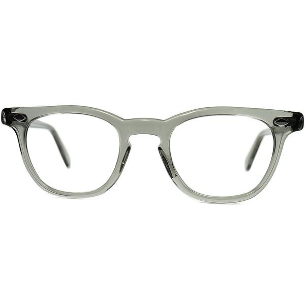 USミリタリー正式採用 MILSPEC G.I.グラス 優良個体 1950s-60s AO AMERICAN OPTICAL アメリカンオプティカル製 ARNEL アーネル系ホーンリム 眼鏡 size44/22 ビンテージヴィンテージ 眼鏡メガネ a7118