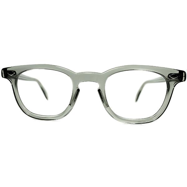 USミリタリー正式採用MILSPEC デッド同等TOPランク S級個体 1950s-60s AO AMERICAN OPTICAL アメリカンオプティカル製 ARNEL アーネル系ホーンリムsize44/22 ビンテージヴィンテージ 眼鏡メガネ a7119