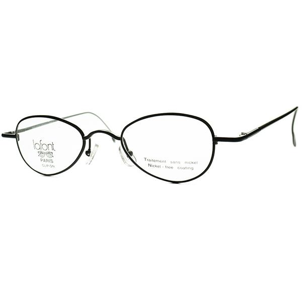 安定BASIC デイリー向け1990sフランス製 デッドストックFRAME FRANCE lafont ラフォン BRTISH STYLE PANTOラウンド丸眼鏡 MATT BLACKバネ蝶番 ビンテージヴィンテージ 眼鏡メガネ a7212
