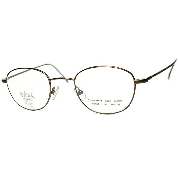 上級シンプル&ベーシック 1990s フランス製 デッドストックFRAME FRANCE lafont ラフォン極細リムCOMBO ウェリントンPANTO ビンテージヴィンテージ 眼鏡メガネ a7214