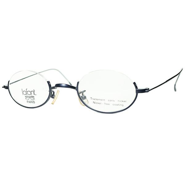 新境地開拓 上質CLASSIC MODERN1990s デッドストック FRAME FRANCE ラフォン lafont 極細リム ハーフアイ ナイロール 小径OVALラウンド丸眼鏡 ビンテージヴィンテージ 眼鏡メガネ a7215