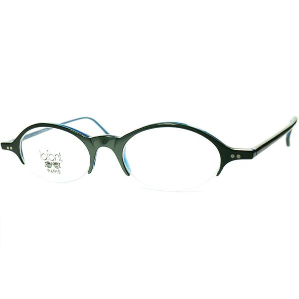 優秀シック&モダン1990sフランス製デッドストック FRAME FRANCE lafont ラフォン OVALラウンド ナイロールブロータイプ FOREST GREEN ビンテージヴィンテージ 眼鏡メガネ a7216