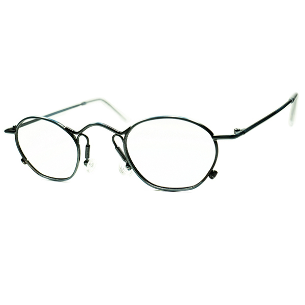 高精度クオリティ エグ目ハイブリッド STEAMPUNK 1980s DEASDSTOCKフランス製 MADE IN FRANCE IDC 歪形状 MINT GREEN メタルラウンド ヴィンテージ 丸眼鏡 丸メガネ a5969