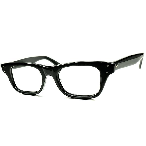 本場TRUEアメリカン・クラシック 未復刻モデル 1950s-60sデッドストック USA製 TART OPTICAL タートオプティカルBOEING 黒 size46/20 王道ウェリントン ビンテージ 眼鏡 メガネ a5996