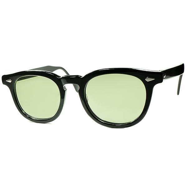 20世紀最高傑作 デッド級 SUPER MINT個体 1950s-60s USA製 オリジナル TART OPTICAL タートオプティカル ARNEL タート アーネル ビンテージ 眼鏡 メガネ size48/22 黒 a6016