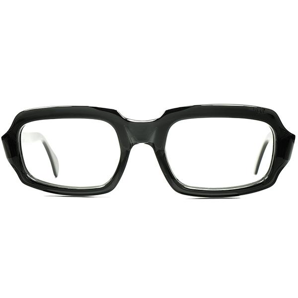 超希少生地BLACK CRYSTAL採用 1960sデッドストック DEADSTOCK 英国製 MADE IN ENGLAND ヒンジレス MILITARY STYLE 短縦COMPACTウェリントン size 48/20 ビンテージヴィンテージ 眼鏡メガネ a6048