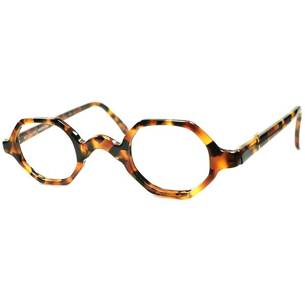 アンティークインスパイア激渋NEW CLASSIC 1980s デッドストック DEADSTOCK MADE IN ITALYイタリア製 小径OCTAGON 鼈甲柄 ビンテージ 眼鏡 メガネ a6050