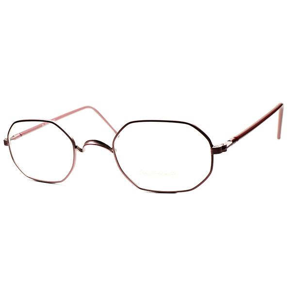 絶妙 ANTIQUEインスパイア 1980s MADE IN EU オリバーゴールドスミス OLIVER GOLDSMITH OG コーラルピンク METAL OCTAGON ビンテージヴィンテージ 眼鏡メガネ size48/22 a6052
