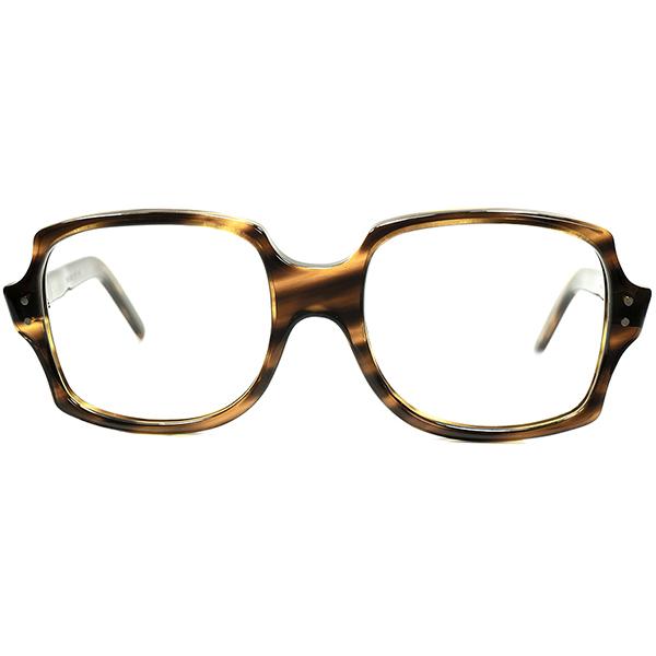 スパッド系 NERD CLASSIC 1960s デッドストックDEADSTOCK 英国製 MADE IN ENGLAND MILITRAY STYLE スクエア系 肉厚AVIATORシェイプ ANTIQUE TORTOISE ビンテージヴィンテージ 眼鏡メガネ A6053