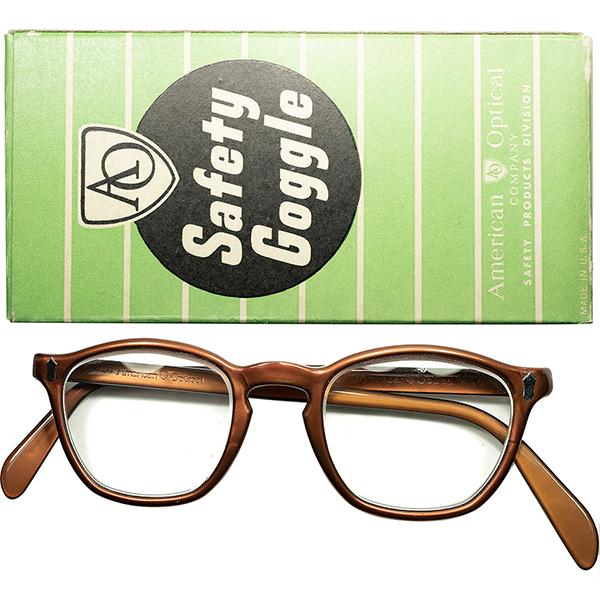 AOヒンジ最初期モデル 大戦後未完オーラ 1940s-50s 完品 デッドストック DEADSTOCK USA製 アメリカンオプティカル AMERICAN OPTICAL Wダイヤ初期型 KEYHOLE ウェリントンヴィンテージ 眼鏡 メガネ size44/20 a6078