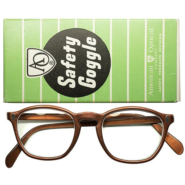 短期間製造レアモデル WW2後未完オーラ 1940s-50s 完品 デッドストック DEADSTOCK USA製 AO アメリカンオプティカル Wダイヤ初期型 KEYHOLE ウェリントン ビンテージヴィンテージ 眼鏡メガネ size48/20 a6080